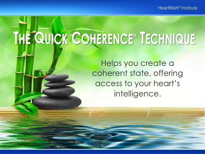 HMI The Quick Coherence Technique for Adults PP Slide 1