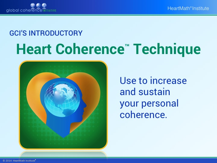 HMI GCI Introductory Heart Coherence Technique PP Slide 1