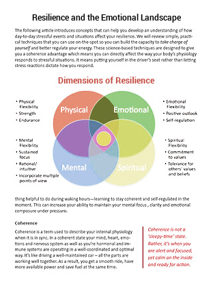 Resilience and the Emotional Landscape
