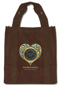 brown tote bag gift for donation research