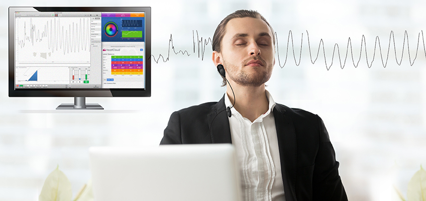 Study Uses Paced Deep Breathing to Measure Dutch Workers' HRV with emWave Pro screen