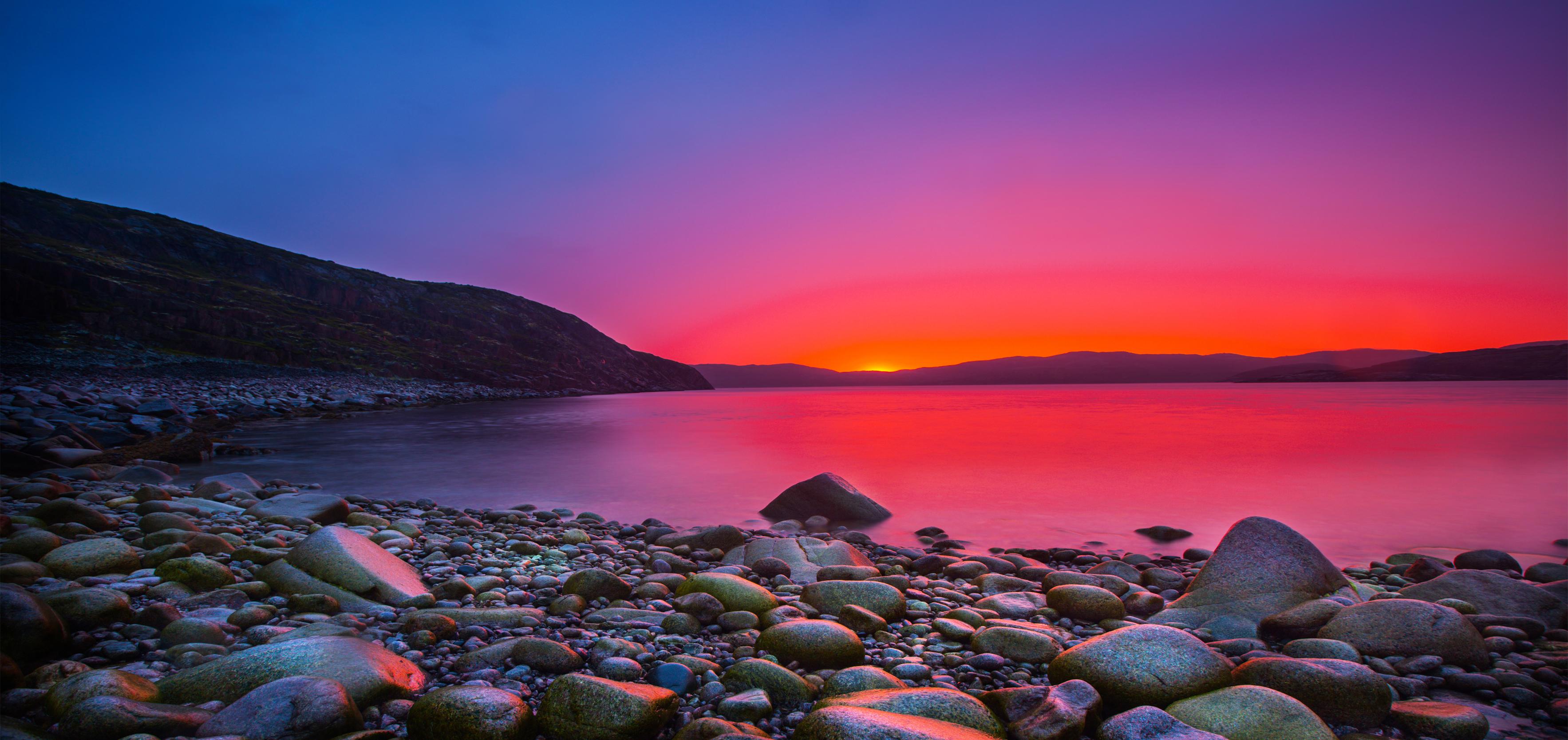 Inner Stillness red sun and rocks blog